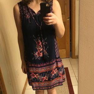 Beautiful boho printed shift dress